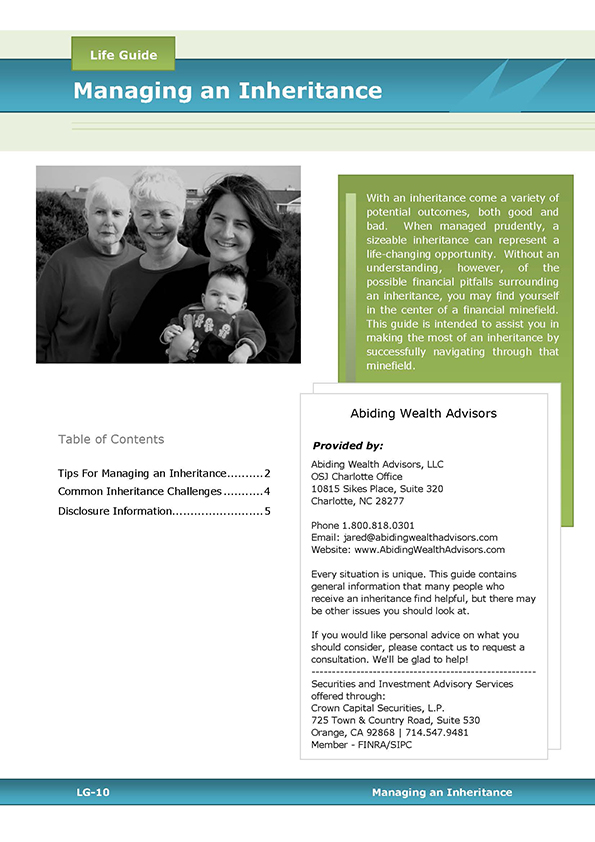 Managing an Inheritance guide cover