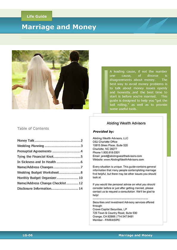 Financial Planning for Newlyweds – Crown Financial Budget Worksheet