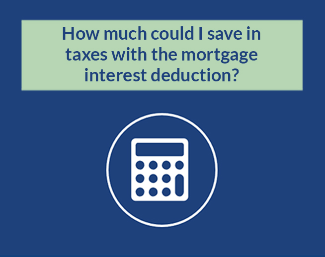 Financial Calculator: How much could I save in taxes with the mortgage interest deduction?