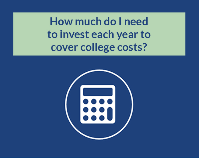 Financial Calculator: How much do I need to invest each year to cover college costs?